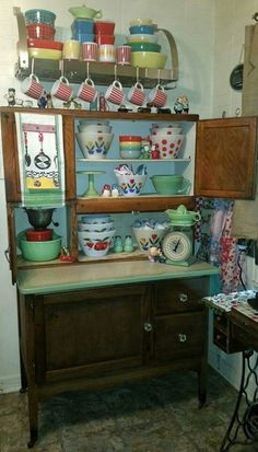Vintage Hoosier Cabinet. I could have had one for 75$, but had no room for it. Still kicking myself. LK