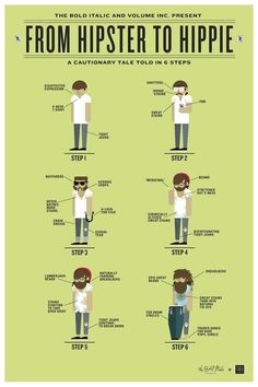From Hipsters to Hippies: A Cautionary Tale in 6 Steps (designed by Volume Inc)
