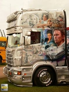 Like Bond then? Show Trucks, Big Rig Trucks, Motorcycle Camping, Camping Car, Custom Big Rigs, Custom Trucks, Peterbilt, Volvo, Heavy Truck
