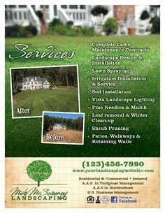 Landscaping Flyer Design Sazak Mouldings Co