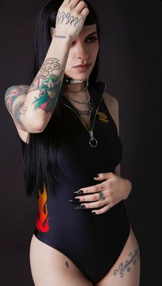 Sexy Tattoos, Girl Tattoos, Tatoos, Sweet Cheeks, Punk, Quinceanera Dresses, Inked Girls, Tattooed Girls, Johnny Depp
