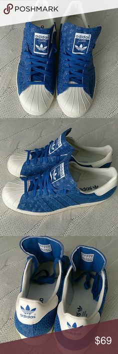 New Adidas SUPERSTAR Originals Trefoil New Adidas Superstar. Adidas Originals. Trefoil. Blue and Off-white. adidas Shoes Sneakers