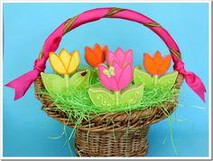 Springtime Tulip Cookies!