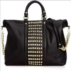 Steve Madden Large Studded Tote SOLD OUT ITEM Super cute, and versatile! Do l your everyday needs in one bag! Very stylish, and sturdy!    This large bag is sold out EVERYWHERE Get it while you can....... Steve Madden Bags Totes