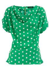 A fashion look from May 2012 featuring polka dot top, short shorts and black sandals. Browse and shop related looks. Beautiful Outfits, Cute Outfits, Green Outfits, Polka Dot Shirt, Polka Dots, Cowl Neck Top, Look At You, Fashion Outfits, Womens Fashion