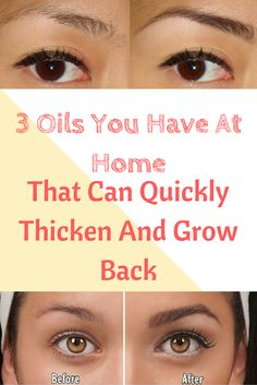 3 Oils You Have At Home That Can Quickly Thicken And Grow Back Eyebrow Hair - World Health Info