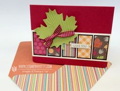 Fall card and envelope and candy wrapper....nice!