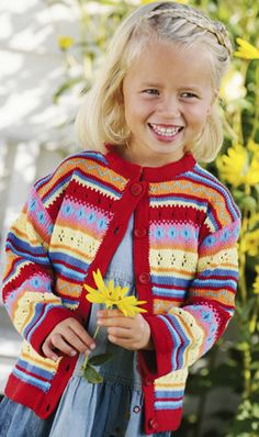 International Knitting Patterns — pretty sweater for a girl. Knitting For Kids, Knitting Projects, Baby Knitting, Crochet Baby, Knit Crochet, Sweater Knitting Patterns, Knit Patterns, Toddler Sweater, Knit Wrap
