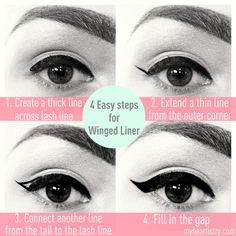 winged liner - how to