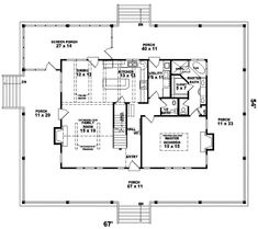 Farmhouse Plan With Wrap-Around Porch - plan #087D-0299 | houseplansandmore.com