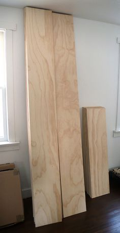 """Plywood 'plank' flooring - 3/"""" Douglas Fir plywood with one finished side. 8 x 4 sheets cut into 12"""" wide planks & some 4 long so to stagger rows."""