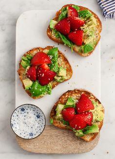 Strawberry Basil Avocado Toast!