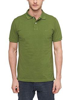 s.Oliver Herren Poloshirt Pique 13.506.35.2406, Einfarbig, Gr. Large, Grün (leaf green 7783)
