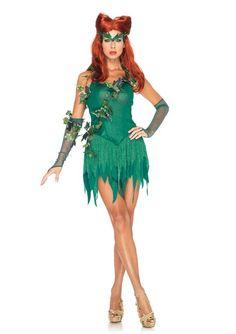 NEW Sexy Poison Ivy Vixen Villain Dress Outfit Adult Womens Halloween Costume | eBay