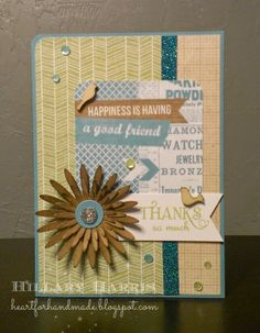 CTMH Skylark paper pack and Picture My Life card. MFT daisy die, Verve sentiment. Mojo Monday and Diva Inspirations