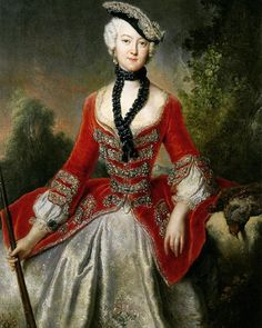 Portrait of Sophie Marie Gräfin Voss (1729-1814), by Antoine Pesne, ca. 1746  Sophie was the daughter of a Prussian general and Johanna Maria Auguste of Jasmund, friend and lady-in-waiting to Queen Sophia Dorothea. She spent 69 years in the Prussian court and published her memoirs about her life in the royal court. ❤️❤️❤️