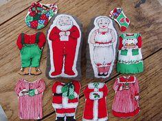Dress Up Mr. & Mrs. Claus Set by doodlebugfinery, via Flickr
