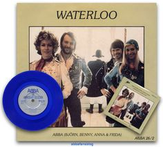 "Blue vinyl release of Abba's single ""Waterloo""...   #Abba #Agnetha #Frida #Vinyl http://abbafansblog.blogspot.co.uk/2016/12/blue-abba-vinyl_19.html"