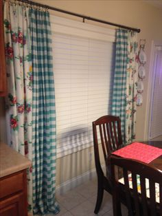 Pioneer Woman curtains using tablecloths