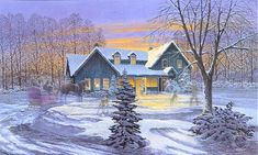 old country winter artwork  | Art Country Canada JAMES LUMBERS - World's most complete Limited ...