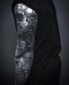 gothic-sleeve-tattoo.jpg (473×586)