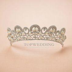 New Pearls Pageant Headpiece Rhinestone Wedding Crown Bridal Veil Headband Tiara   Clothing, Shoes & Accessories, Wedding & Formal Occasion, Bridal Accessories   eBay!