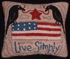 Aiguille primitif Punch oreiller Americana Crows par thetalkingcrow, $25.00