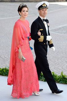 Swedish Royal Wedding: Danish Royals...Posted on June 8, 2013 by HatQueen....Crown Princess Mary of Denmark. The Swedish and Danish Royal Families (the Swedish King and Danish Queen are first cousins), are closely related. There was a large group of Danish Royals in attendance today.