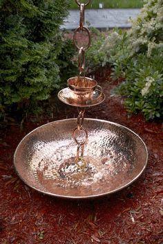 Rain Chain Basin Fits Any Good Directions Rain Chain