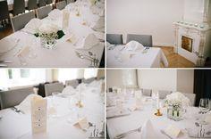 Banquet Table Decorations at the reception of the Finnish-Ukrainian-wedding at Ekberg in Helsinki #FinnishWedding