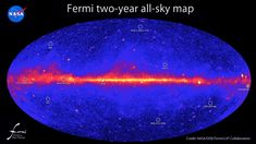 This all-sky image, constructed from two years of observations by NASA's Fermi Gamma-ray Space Telescope, shows how the sky appears in gamma-ray light.