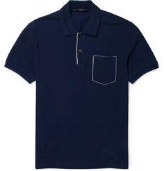 GucciCotton-Piqué Polo Shirt|MR PORTER