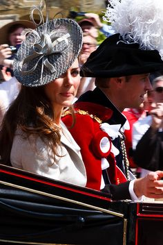 Kate Middleton and Prince William at the Order of the Garter