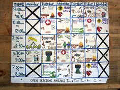 New Frontier Program schedule at Camp #Yawgoog.  A 2015 image by David R. Brierley.