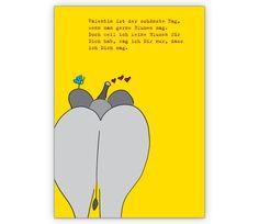 Valentins Gruß Klappkarte mit Elefant - http://www.1agrusskarten.de/shop/valentins-grus-klappkarte-mit-elefant/