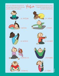 Yoga sequences for kids Poses Yoga Enfants, Kids Yoga Poses, Yoga For Kids, Exercise For Kids, Yoga Meditation, Yin Yoga, Iyengar Yoga, Ashtanga Yoga, Yoga Vinyasa