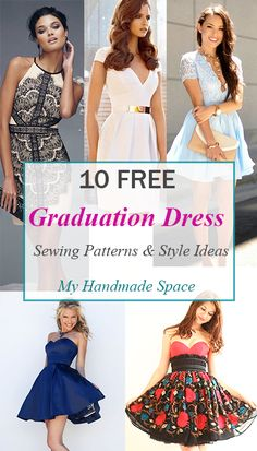 10 free graduation dress sewing patterns