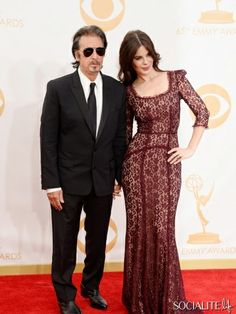 Al Pacino (L) and Lucila Sola arrive at the 65th Annual Primetime Emmy Awards Lucila Solaheld at Nokia Theatre L.A. Live on September 22, 20...