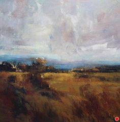 "Golden Meadow by Simon Addyman Oil ~ 54"" x 54"""
