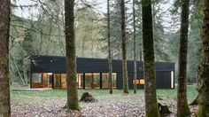 Blackened wood house by Robert Hutchison provides retreat in Seattle forest | Dezeen