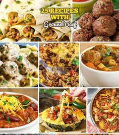 Our 25 recipes with ground beef will give you inspiration for casseroles, skillet meals and other easy dinners to make for your family! Easy To Make Dinners, Fast Easy Meals, Recipes With Ground Beef Videos, Southern Recipes, Southern Food, Real Food Recipes, Drink Recipes, Dessert Recipes, Easy Casserole Recipes