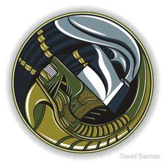 'Alien Yang' T-Shirt by David Benton Alien Vs Predator, Predator Cosplay, Predator Costume, Predator Alien, Giger Art, Hr Giger, Badass Movie, Alien Drawings, Aliens Movie
