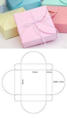 Hacemos # hermosas # cajas # para # regalos # # regalos # make … – Bastelarbeiten – Artesanía Cardboard Gift Boxes, Cardboard Crafts, Paper Boxes, Craft Gifts, Diy Gifts, Paper Box Template, Diy Gift Box Template, Box Patterns, Gift Packaging