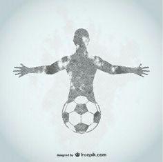 Abstract soccer tattoo idea