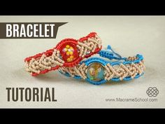 Big Bead Bracelet in Two Colors | Tutorial by Macrame School - YouTube