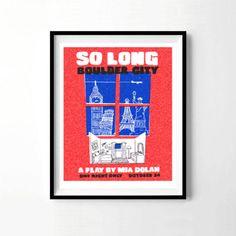 So long Boulder City, La La Land Poster, la la land gift, play by mia dolan, Emma Stone, Ryan Gosling, Sebastian, Mia play, City of Stars, boulder city, home decor, wall decor, wall art