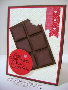 Stampin' Studio: Love you more that chocolate!