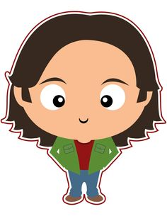Sam Winchester from Supernatural. Been through the mill and back again. Which brother do you prefer? Dean or Sam?  Check out all the other Supernatural clipart we've made in our new Etsy shop.