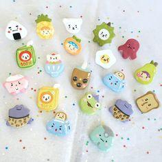 Cute Polymer Clay, Cute Clay, Polymer Clay Charms, Diy Clay, Handmade Polymer Clay, Polymer Clay Earrings, Cute Crafts, Diy Crafts, Food Themes