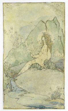 Jessie Marion King (Scottish, 1875-1949). Looking Heavenwards.